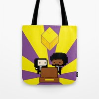fez Tote Bags featuring Pulp Fez by Ihazart