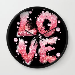 Bubble Love Wall Clock