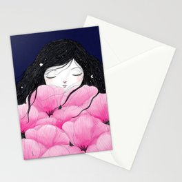Night falls Stationery Cards
