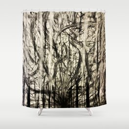 Lost in a Chaos Forest Shower Curtain