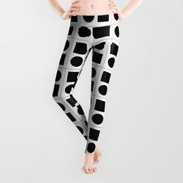 Geometric Pattern #125 (squares & circles) Leggings