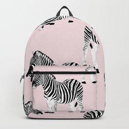 Cute Black & White Zebra Animal Pink Design Backpack