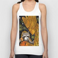 superheros Tank Tops featuring We are Groot by Tiffany Saffle