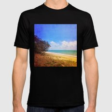 Beautiful Day by the Sea Mens Fitted Tee MEDIUM Black