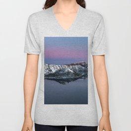 """""""Purity"""" - Blue Hour sunrise at Crater Lake, Oregon Unisex V-Neck"""