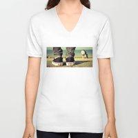 vans V-neck T-shirts featuring vans II. by Zsolt Kudar