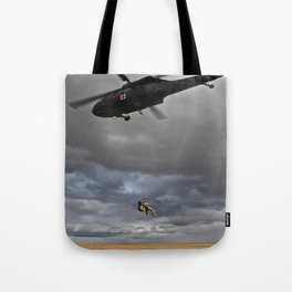 Suspended Between Worlds Tote Bag