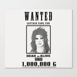 WANTED Captain Fang Yun Canvas Print