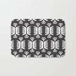 Mexican Birds - black & white Bath Mat