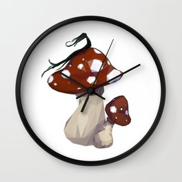 Mythical Creature resting on a Mushroom Wall Clock