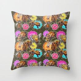 BeeUtiful Spring Throw Pillow