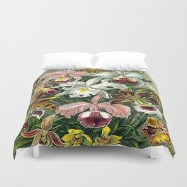 Vintage 1865 Botanical Orchids Duvet Cover