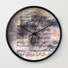 Chopin - Nocturne Wall Clock