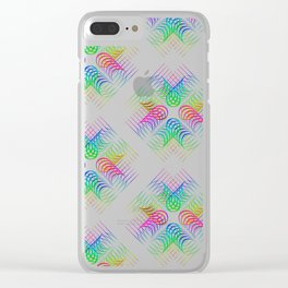 Colorful Rainbow Pattern Clear iPhone Case