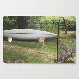 Curious Spotted Fawn Cutting Board