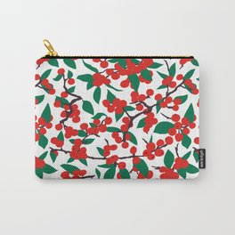 Holiday Winterberries + Branches Carry-All Pouch