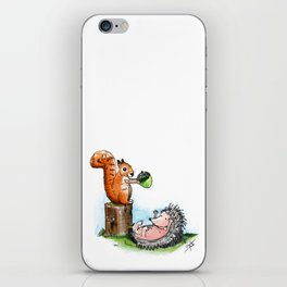 squirrel & hedgehog iPhone Skin