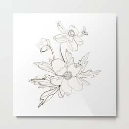 Bunch of spring anemones Metal Print