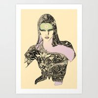 megan lara Art Prints featuring Lara by hyperpattern