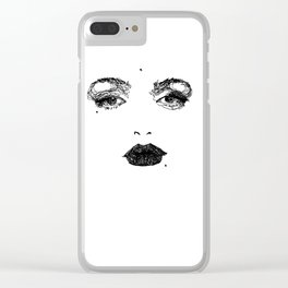 NOT Marilyn. Clear iPhone Case