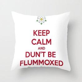 Keep Calm and Dun't Be Flummoxed Throw Pillow