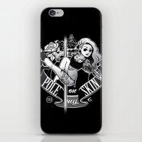 tatoo iPhone & iPod Skins featuring Pole Friends - Tatoo Black by Pole Friends Shop