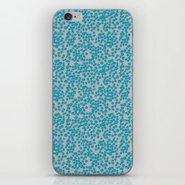 Aqua Scribble Dot iPhone Skin