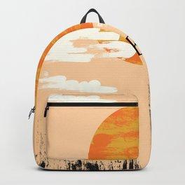 Korean Setting sun block art Backpack