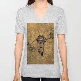Steampunk Dreamcatcher Unisex V-Neck