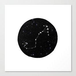 Scorpio black and white star chart zodiac star signs minimal decor Canvas Print
