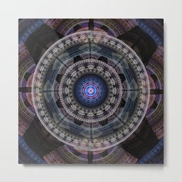 Modern mandala with tribal patterns Metal Print