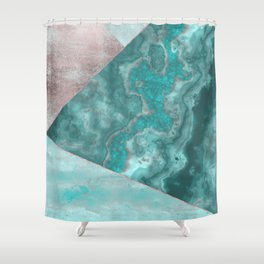 Gemstone And Geode Triangles Shower Curtain
