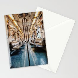 Golden Subway Stationery Cards