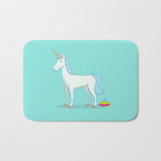 Unicorn Poop Bath Mat