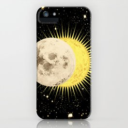'Imminent Eclipse' Sun Moon & Stars iPhone Case