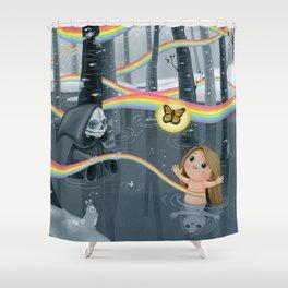 I Follow Rainbows Shower Curtain