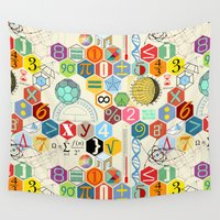 math Wall Tapestries featuring Math in color by Chicca Besso