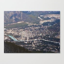 Aerial View of Banff, Alberta Canvas Print