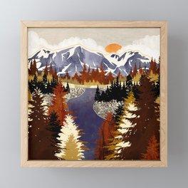 Autumn River Framed Mini Art Print