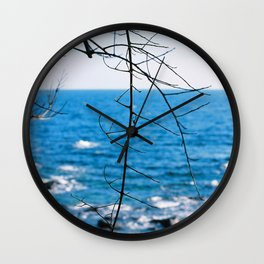 Blue blue ocean Wall Clock