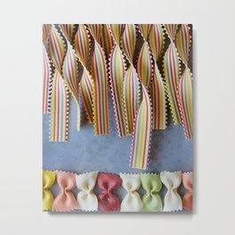 Bows and Stripes V Metal Print