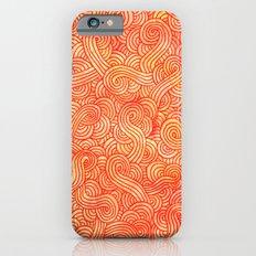 Red and orange swirls doodles iPhone 6s Slim Case