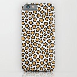 Trendy Leopard Simulated Fur Effect Pattern iPhone Case