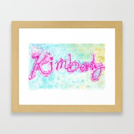 kimberly colorful doodle Framed Art Print