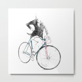 BE CYCLE Metal Print
