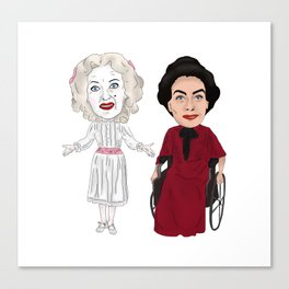 Whatever Happened to Baby Jane, Bette Davis, Joan Crawford Inspired Illustration Canvas Print
