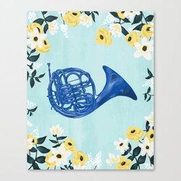 Blue French Horn Canvas Print