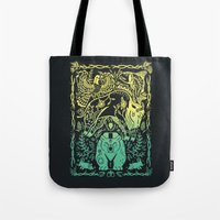 fifth harmony Tote Bags featuring Harmony by Shirley Jackson