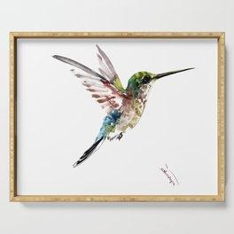 Hummingbird, bird art minimalist bird design hummingbird lover Serving Tray