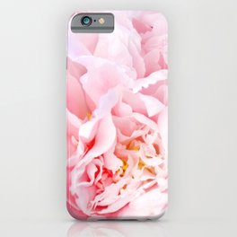 Peony Flower Photography, Pink Peony Floral Art Print Nursery Decor A happy life - Peonies 3 iPhone Case